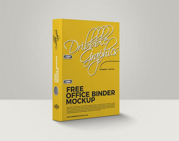 Free Office Binder Mockup