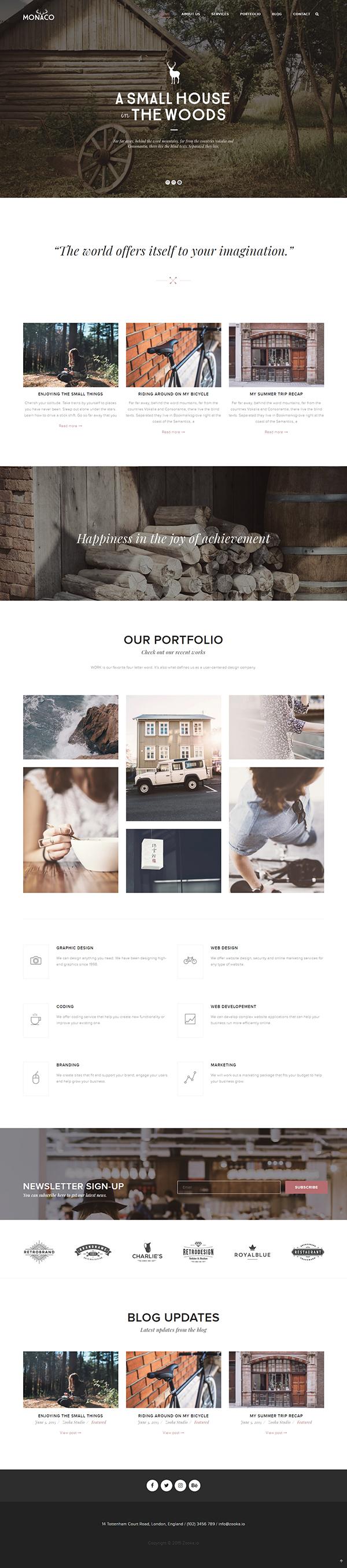 Monaco – Vintage Multi-Concept WordPress Theme