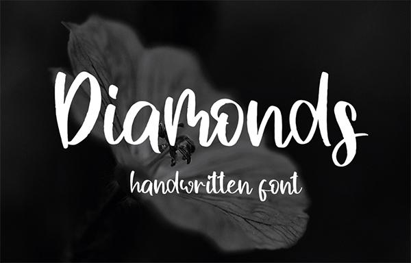 Diamons - Handwritten Free Font