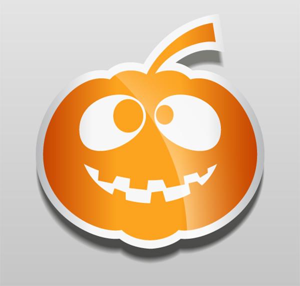 Halloween Pumpkin Vector Stickers