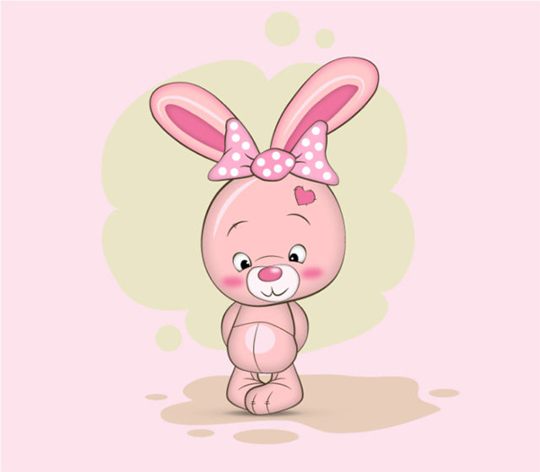 Illustrator vector tutorial Bunny Character
