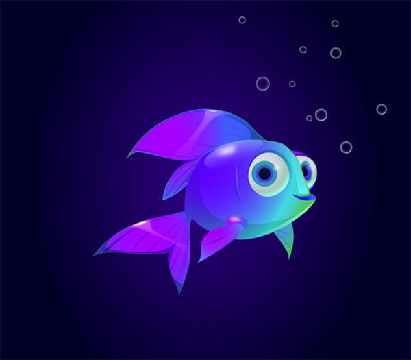 Illustrator vector tutorial Fish Character