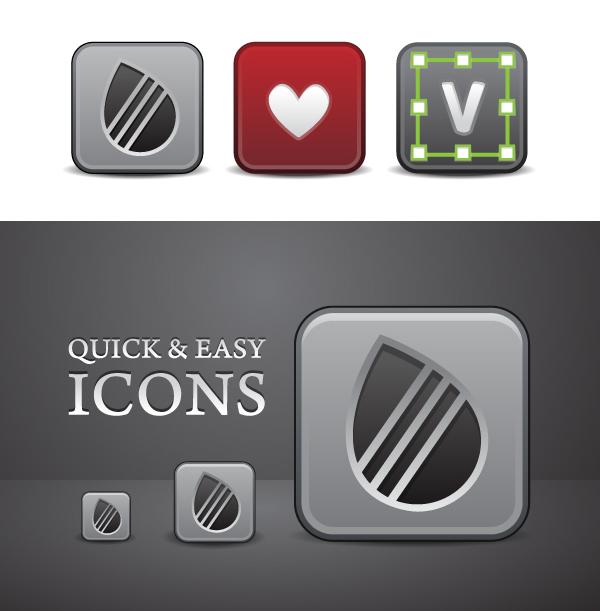 Beveled Icon Vectors
