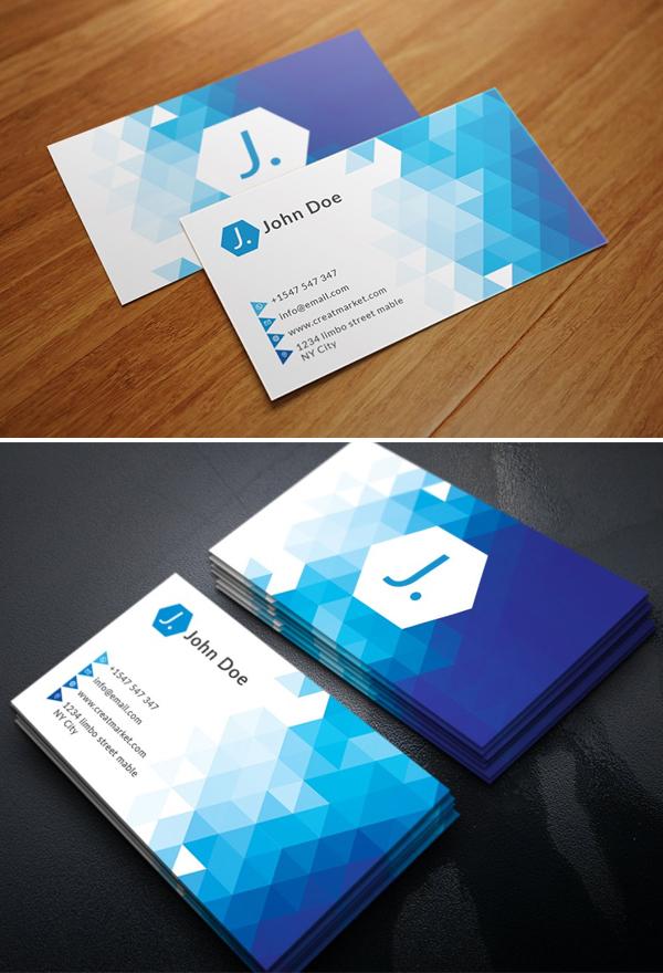 Triangle Polygon Business Card Design