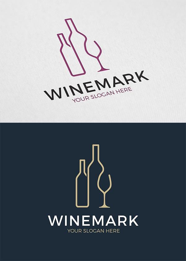 Creative Wine Mark Logo