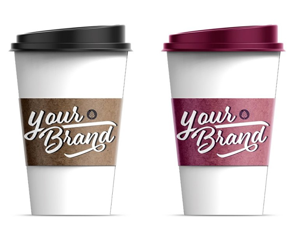 Paper Coffee Cup With Sleeve Mockup