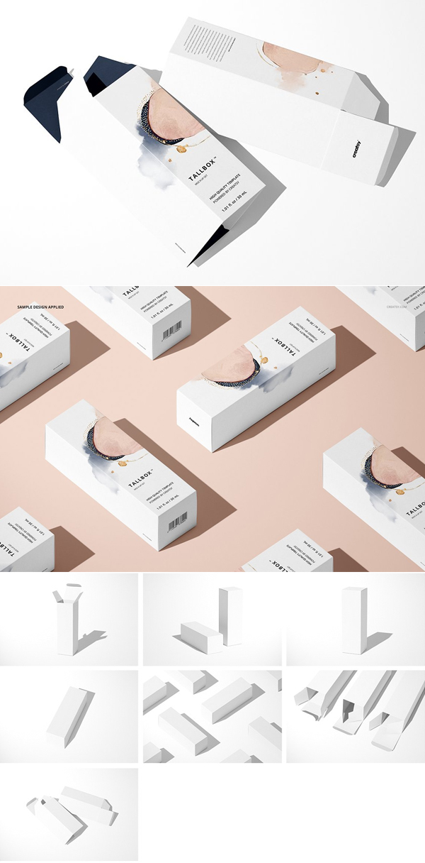 Tall Box Mockup Set