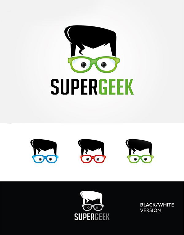 Super Geek Logo Design
