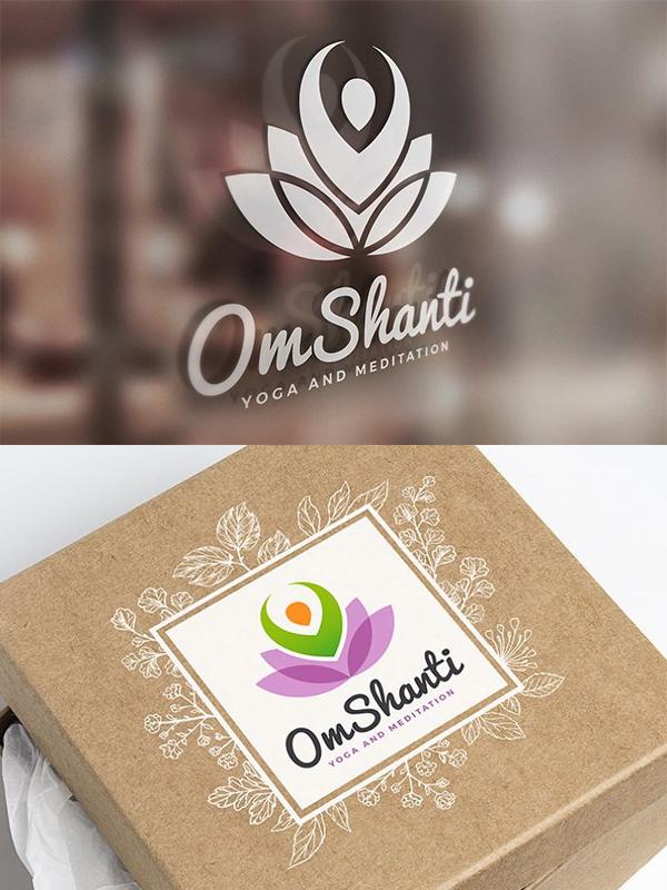 Om Shanti - Yoga Logo Design