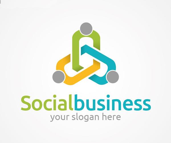 Social Business Logo Design