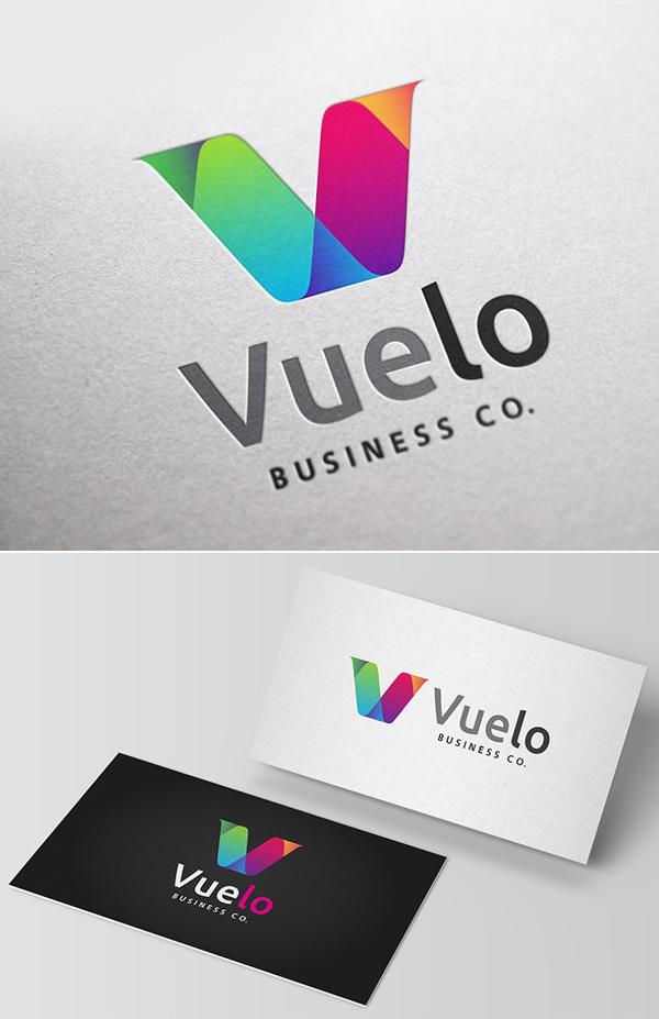 Vuelo logo Design