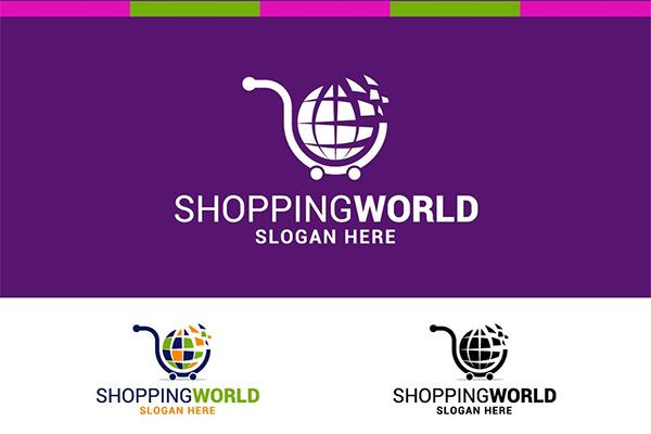 Shopping World Logo Design