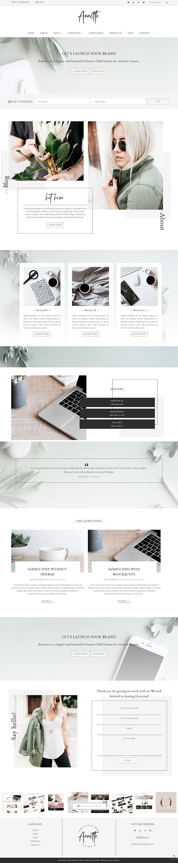 Portfolio Business Genesis Theme