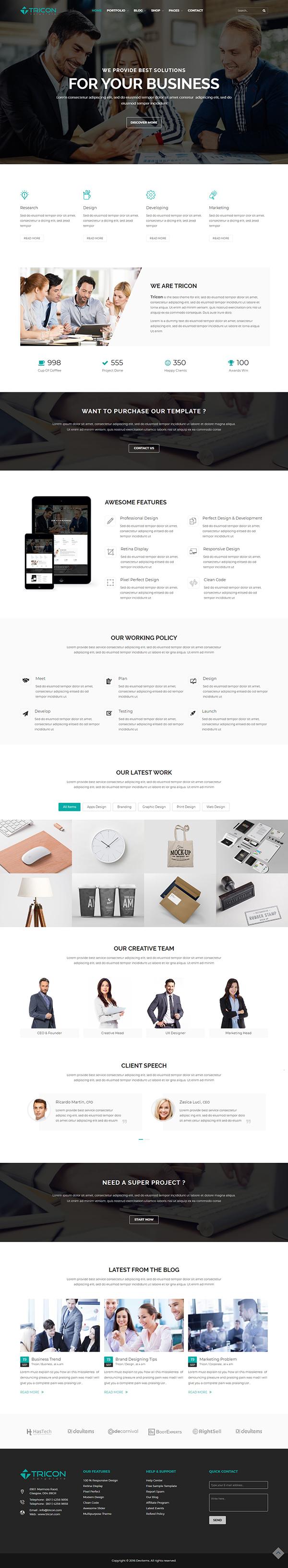 Tricon – Multipurpose WP Theme