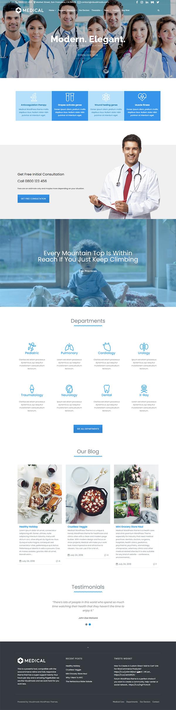 Medical Health Care WordPress Theme