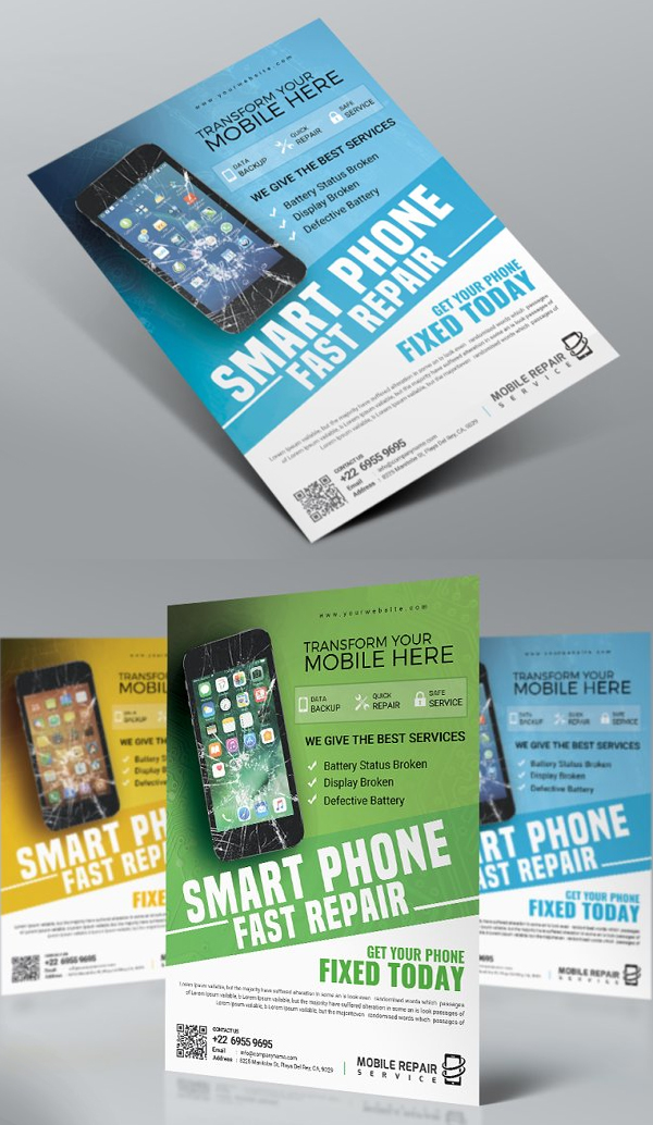 Smartphone Repair Flyer Template