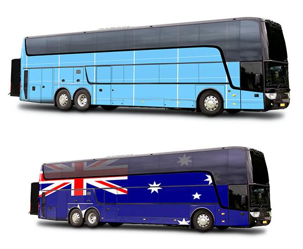 Travel bus Mockup
