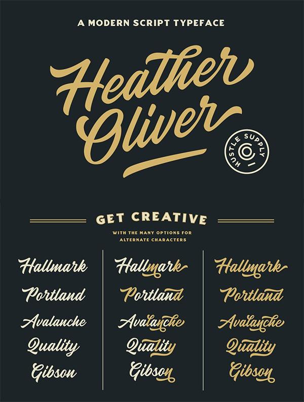 Heather Oliver Script Font