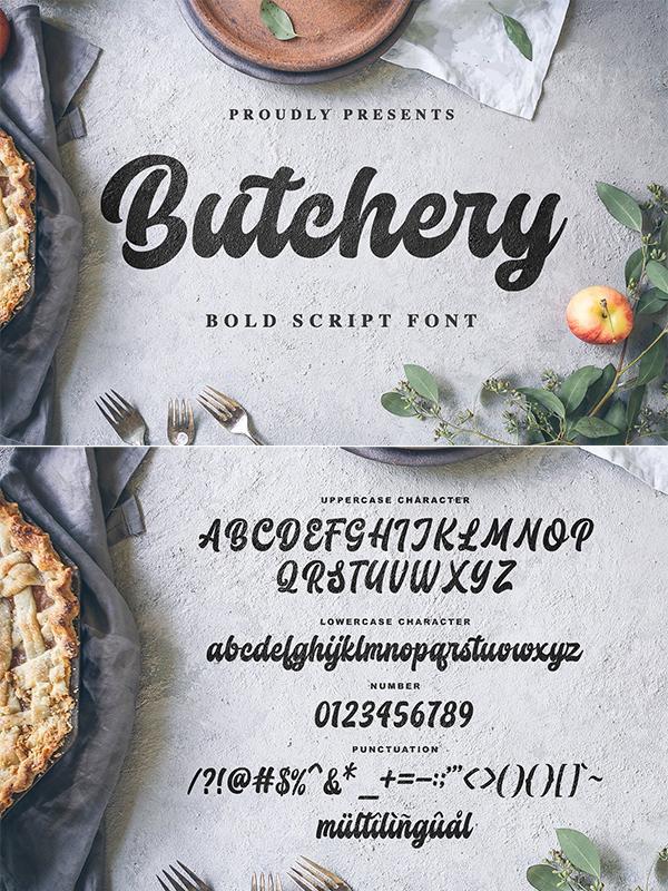 Butchery Bolds Script Font