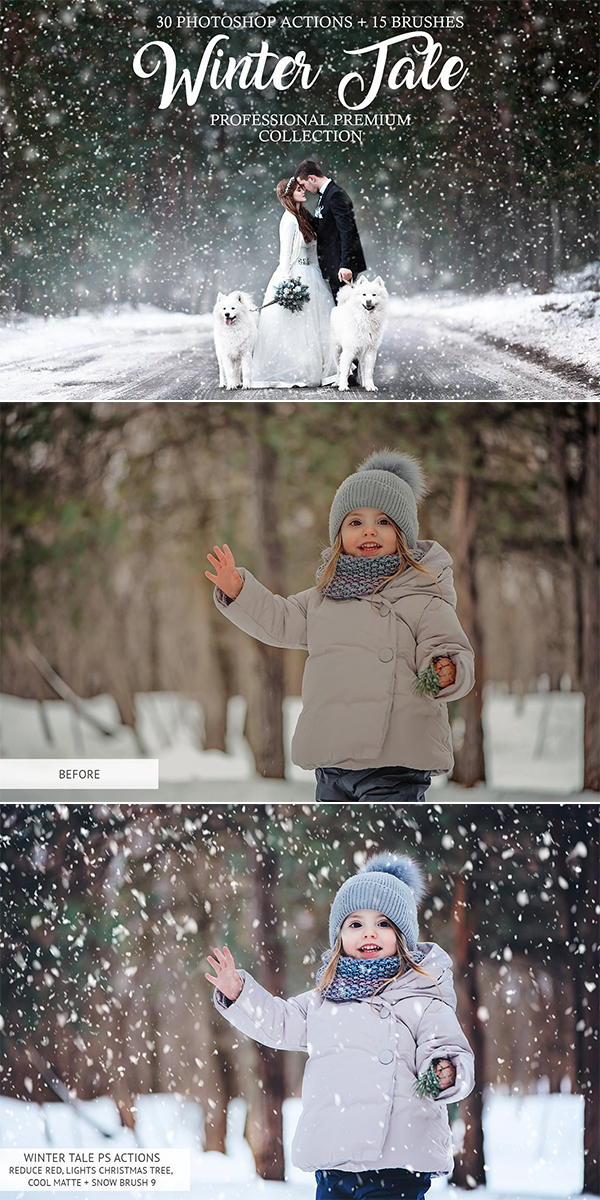 Winter Tale Photoshop Actions