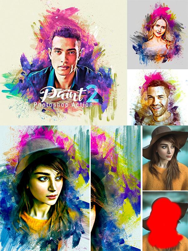 Creative Paint Photoshop Action