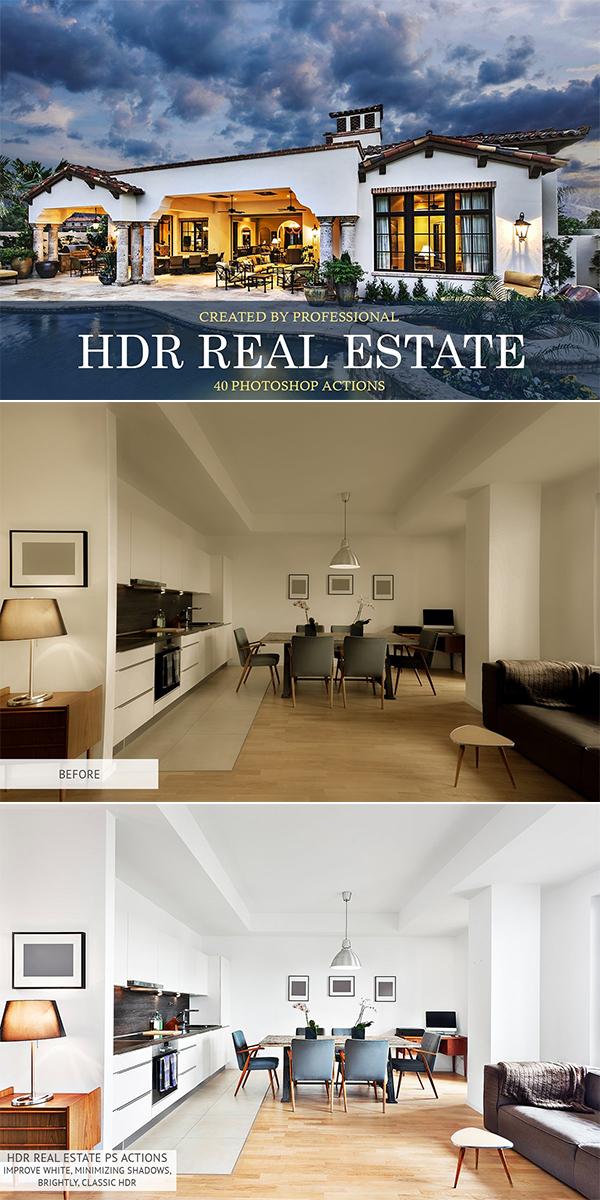 HDR Real Estate Photoshop Actions