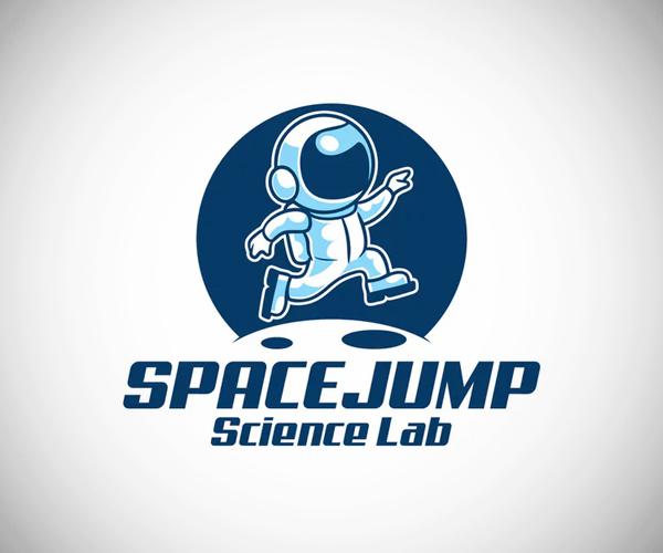 Astronaut Space Jump Logo