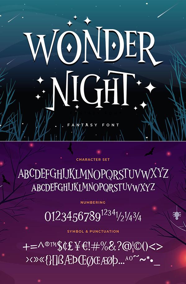Wonder Night Display Free Font