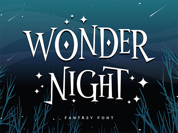 Wonder Night Display Font