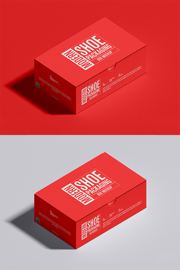 Free Shoe Packaging Box Mockup