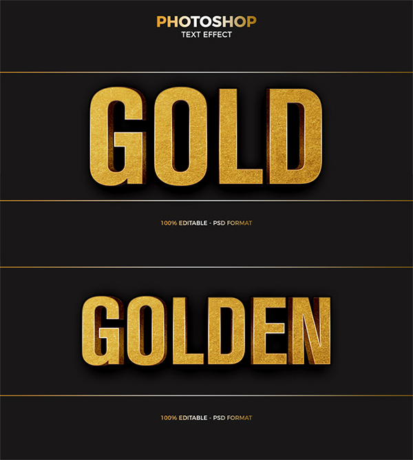 Awesome Attractive Gold Foil Text Effect Free Download