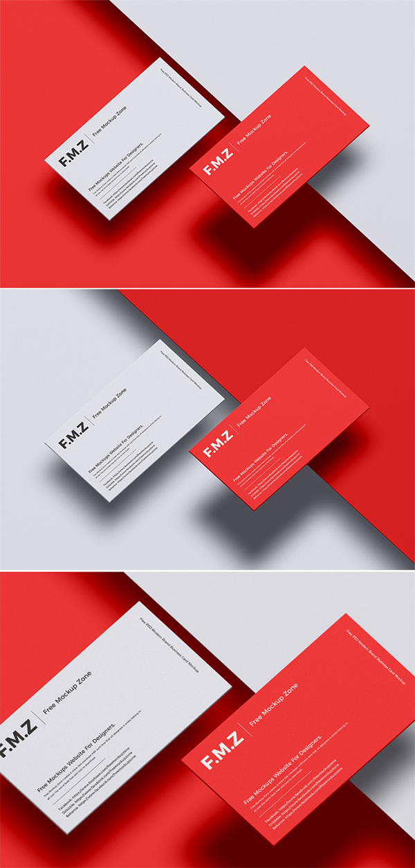 Free Simple Attractive Business Card PSD Mockup