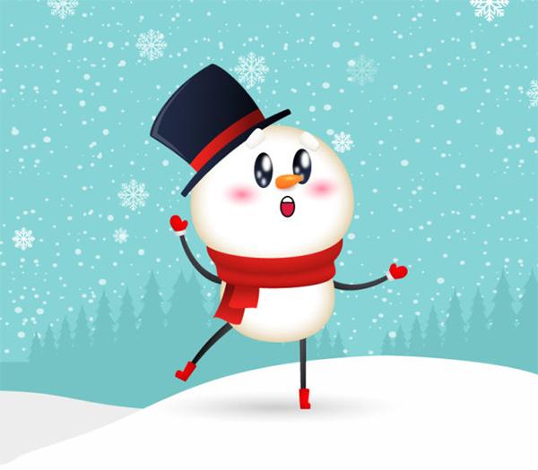 Illustrator Vector Tutorial Snowman