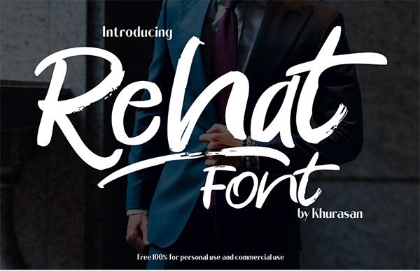 Rehat Script Free Font