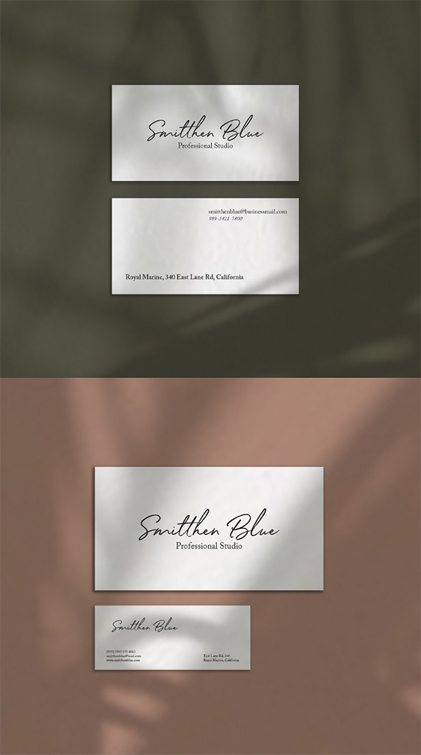 Simple Clean Business Card Mockup Free Download (PSD)