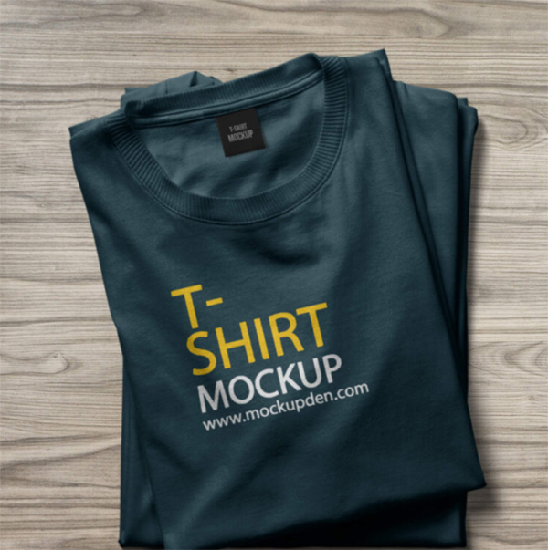 Free Folded T Shirt Mockup