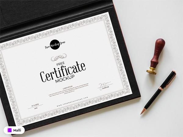 Free Certificate Mockup PSD