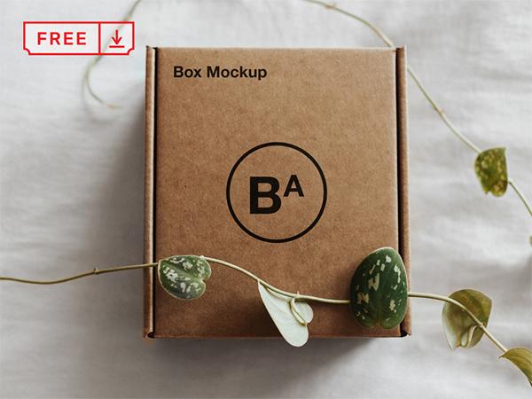 Free Craft Paper Box Mockup