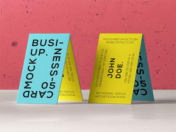 Free Business Card Branding Mockup