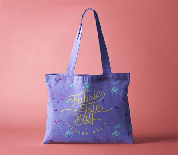 Elegant Fabric Tote Bag Mockup