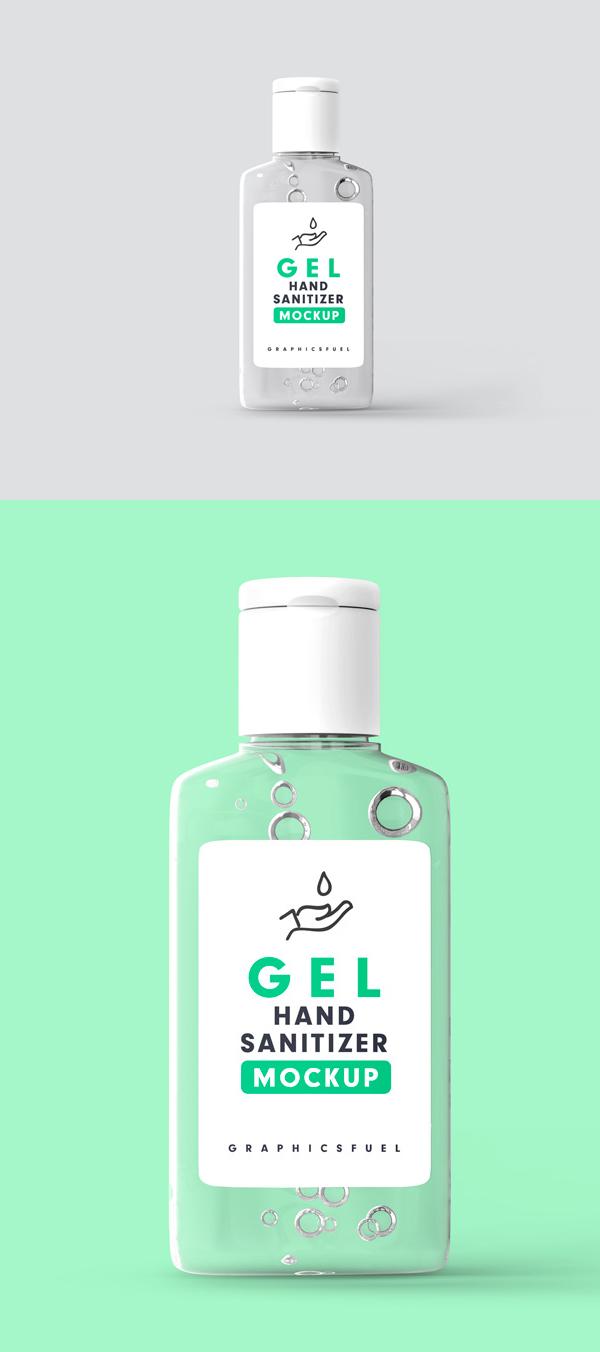 Hand Sanitizer Bottle Mockup