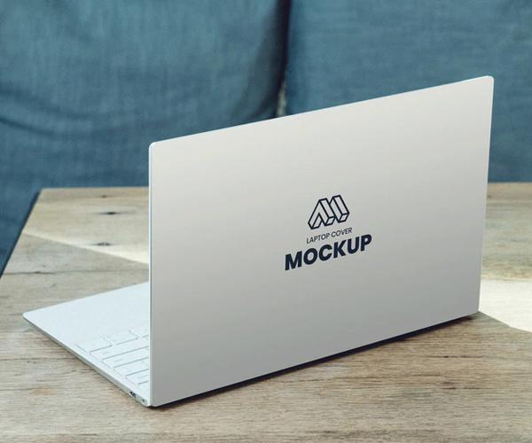 Laptop Back Cover Mockup