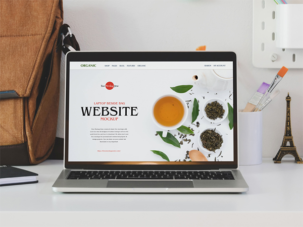 Free Website Branding Laptop Mockup