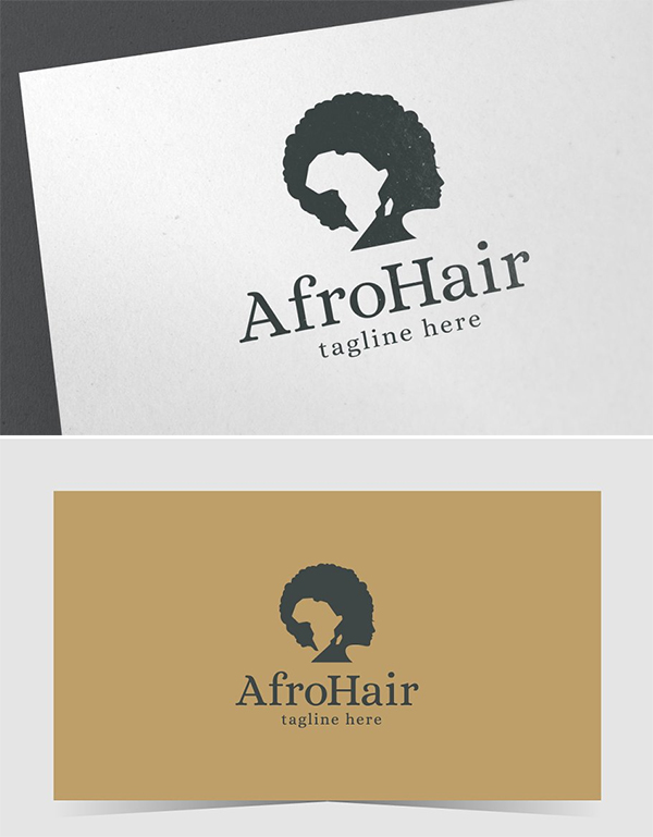 Afro Hair Logo Design