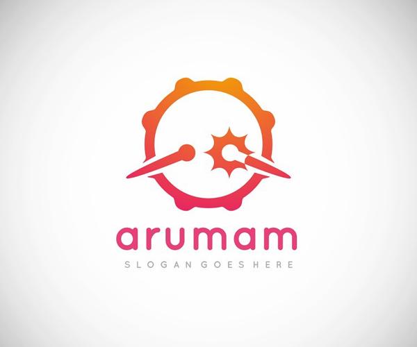 Musical Drum Logo Template
