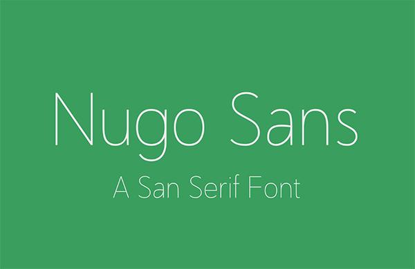 Nugo Sans SErif Free Font
