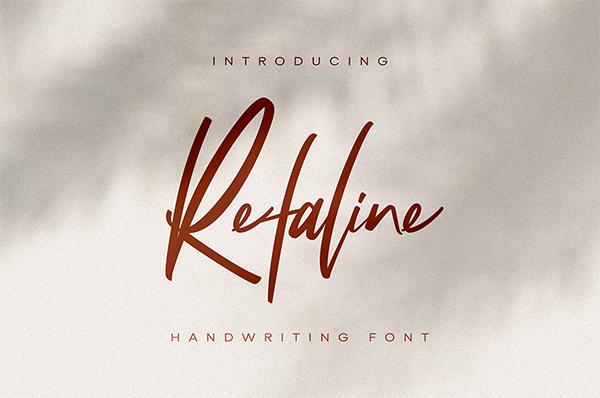 Refaline Script Free Font