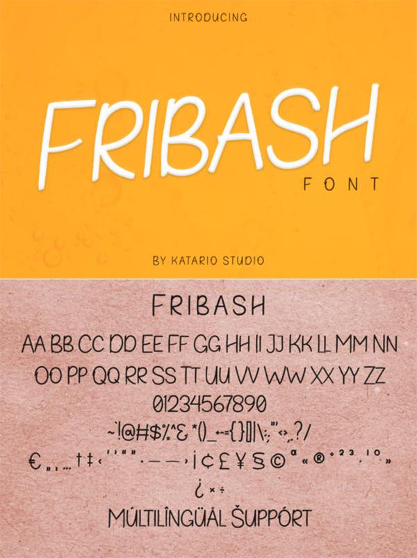 Fribash | Allcaps Brush Free Font