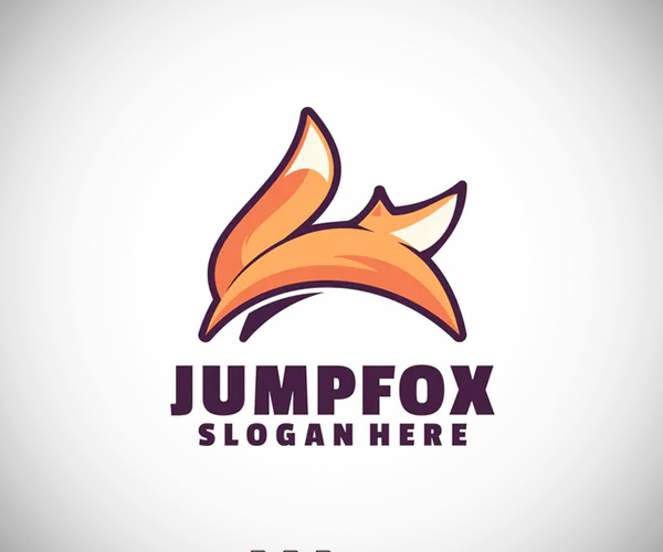 Fox Jump Logo Template