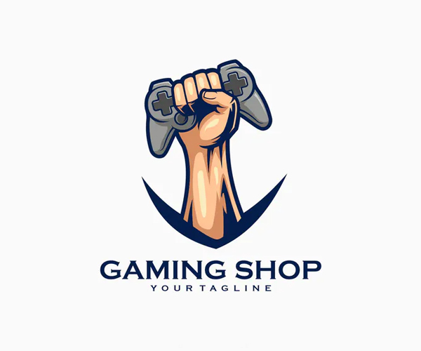 Game Controller Gaming Shop Logo